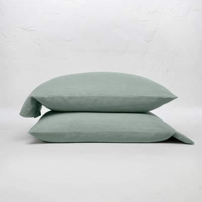 100% Washed Linen Solid Pillowcase Set - Casaluna™