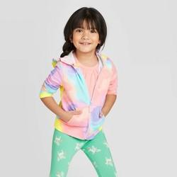 Toddler Girls' Tie-Dye Zip-Up Hooded Sweatshirt - Cat & Jack™