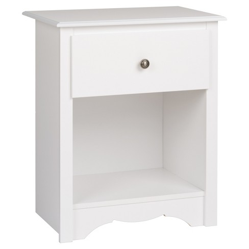 Monterey Nightstand - White - Prepac - image 1 of 5