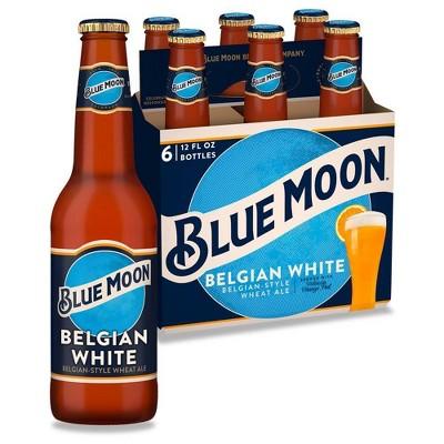 Blue Moon Belgian White Wheat Ale Beer - 6pk/12 fl oz Bottles
