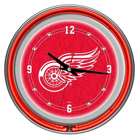 Detroit Red Wings Neon Wall Clock - image 1 of 1