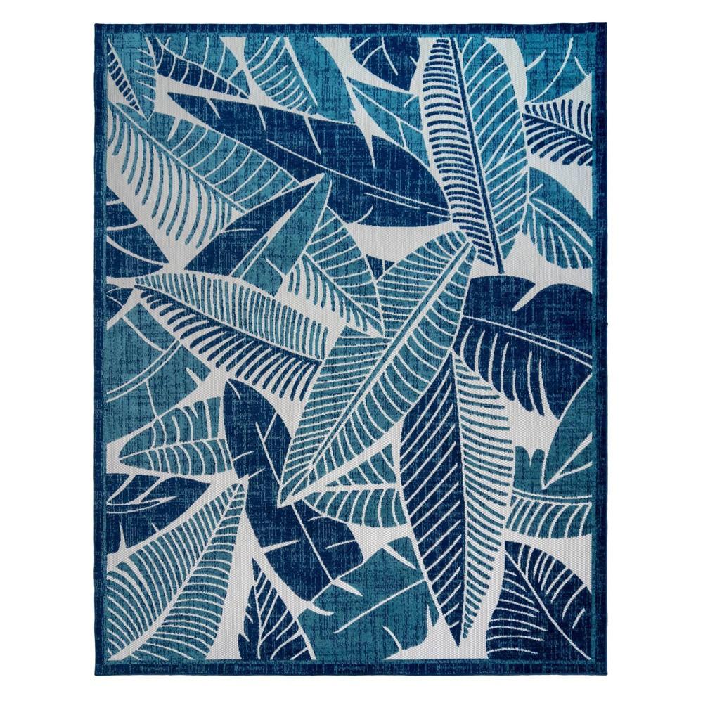 Image of 5'x7' Fosel Lagos Outdoor Rug Blue - Gertmenian