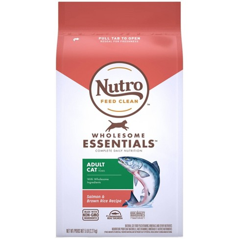 Nutro Wholesome Essentials Salmon & Brown Rice Recipe Adult Premium Dry Cat Food - 5lbs - image 1 of 4