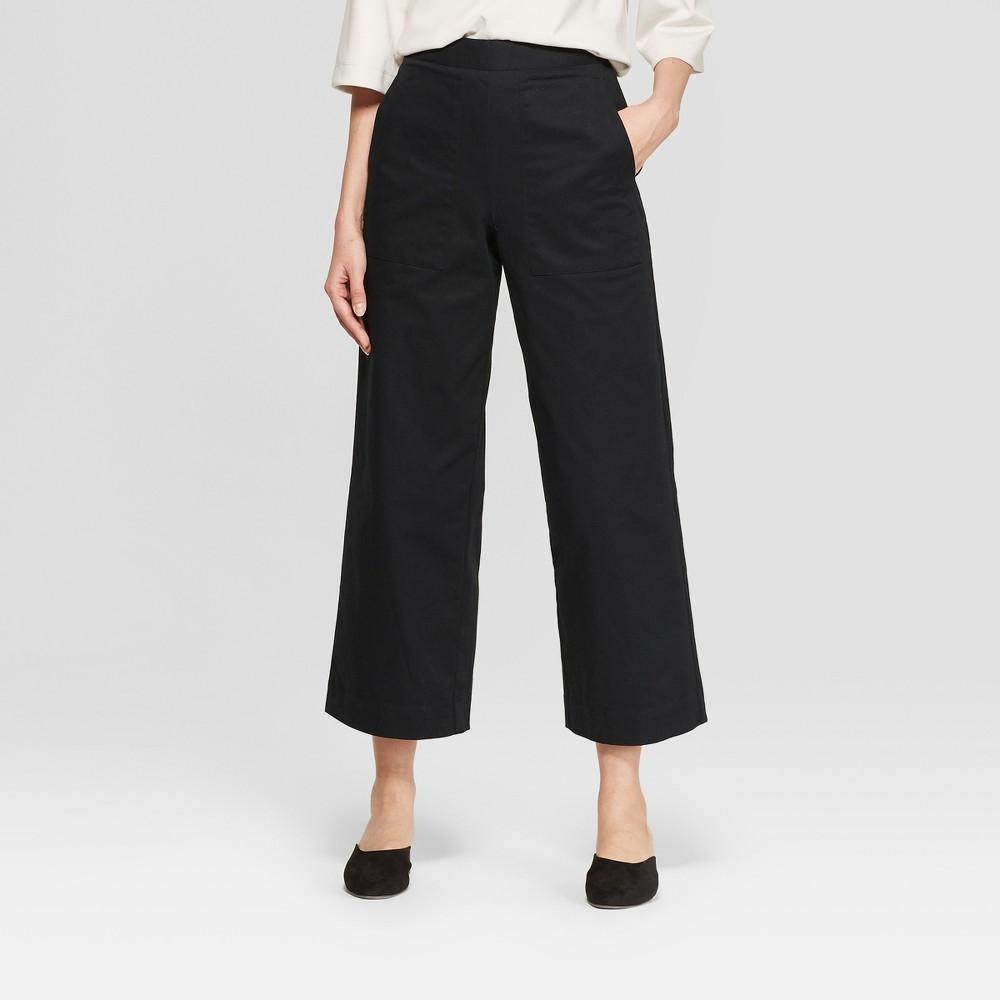 Best Women Mid Rise Wide Leg Ankle Length Pants Prologue Black 2