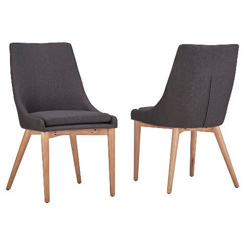 Sullivan Oak Mid Century Barrel Back Dining Chair (Set of 2) - Inspire Q - image 1 of 3