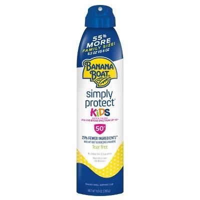 Banana Boat Simply Protect Kids Sunscreen Spray - SPF 50+ - 9.5oz