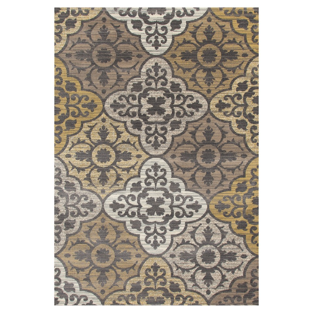 Image of Yellow Classic Woven Area Rug - (5'X8') - Art Carpet