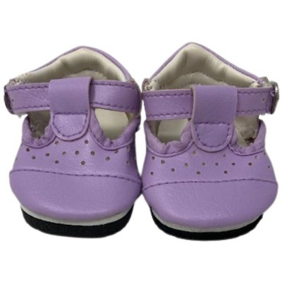 Doll Clothes Superstore Lavender Mary Jane Shoes Fit 18 Inch Dolls