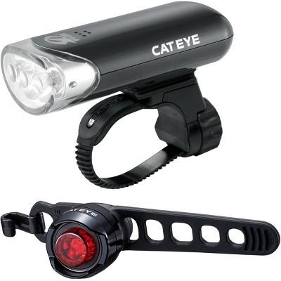 CatEye HL-EL135N Headlight and Black Orb Rear Bicycle Light Combo Kit