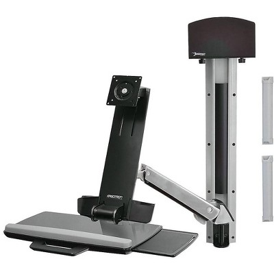 """Ergotron StyleView Sit-Stand Combo Arm Up to 24"""" Monitor Polished Aluminum 45-266-026"""