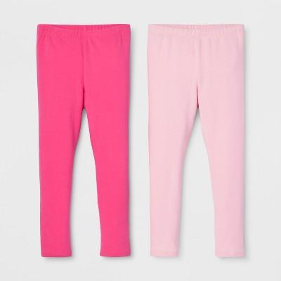 155351a6c7f38 Toddler Girls' 2pk Leggings Set - Cat & Jack™ Dark Pink/Light Pink