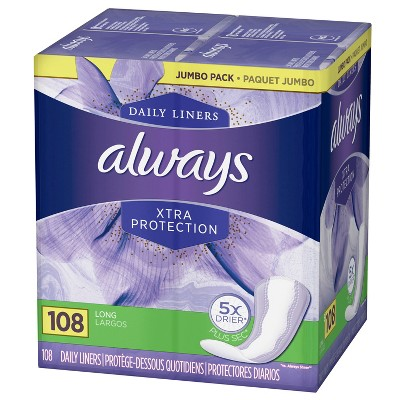 Panty Liners: Always  Xtra Protection