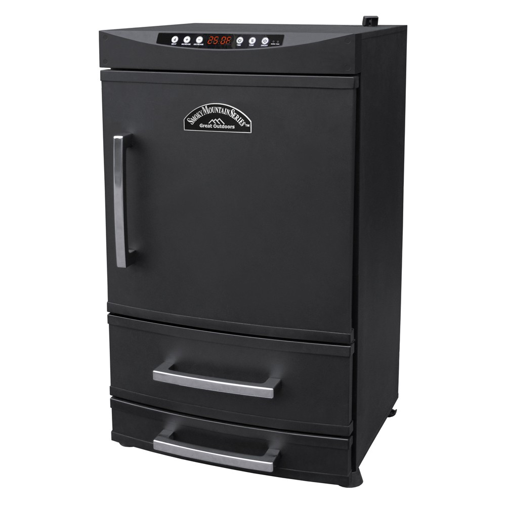 Landmann Smoky Mountain 32 Vertical Electric Smoker Steel - Black
