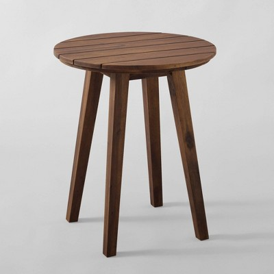 Acacia Wood Outdoor Round Side Table - Saracina Home