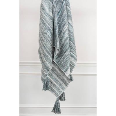 "50""x60"" Stripe Throw Blanket Blue - Rizzy Home"