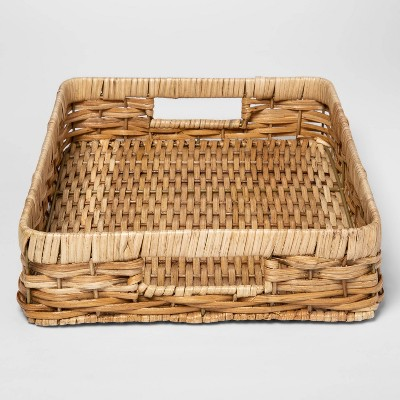 Woven Wicker Serving Tray Khaki - Threshold™
