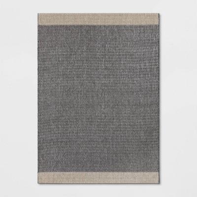 7'X10' Indoor/Outdoor Color Block Woven Area Rug Gray - Threshold™