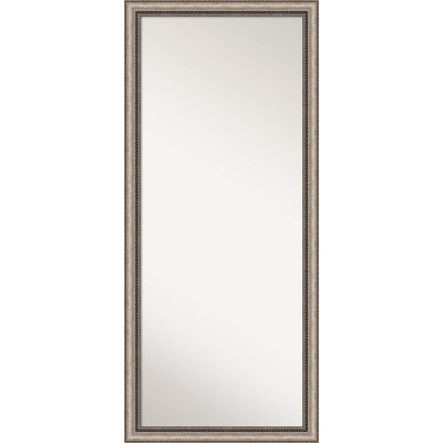 Lyla Ornate Framed Full Length Floor Leaner Mirror Silver - Amanti Art