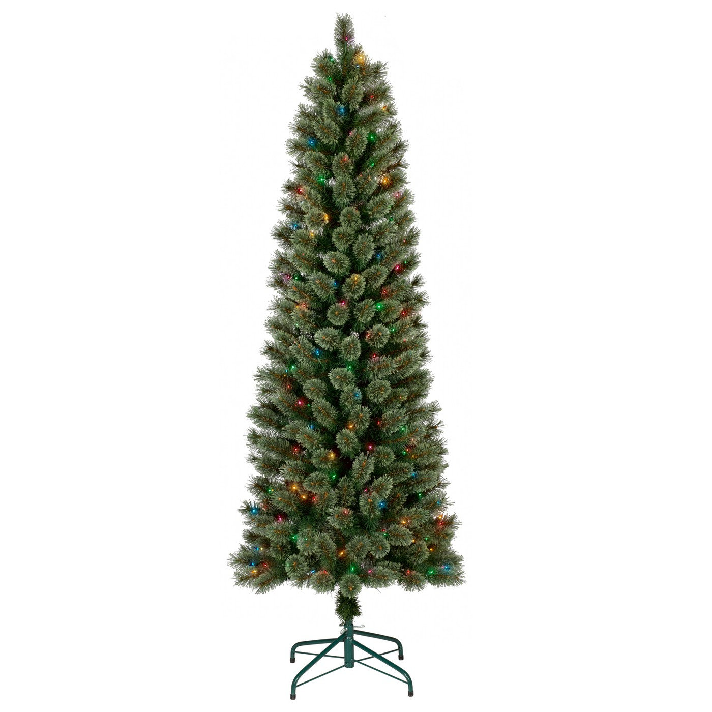 6ft Prelit Artificial Christmas Tree Slim Virginia Pine Multi Lights - Wondershop™ - image 1 of 3