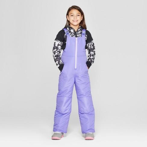 48b6593d51ef Girls  Snow Bib - C9 Champion® Purple   Target