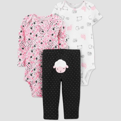 Baby Girls' Sheep Top & Bottom Set - Just One You® made by carter's Black 3M