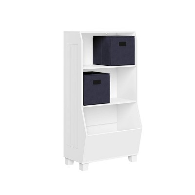 """23"""" Kids' Bookcase with Toy Organizer and 2 Bins - RiverRidge Home"""