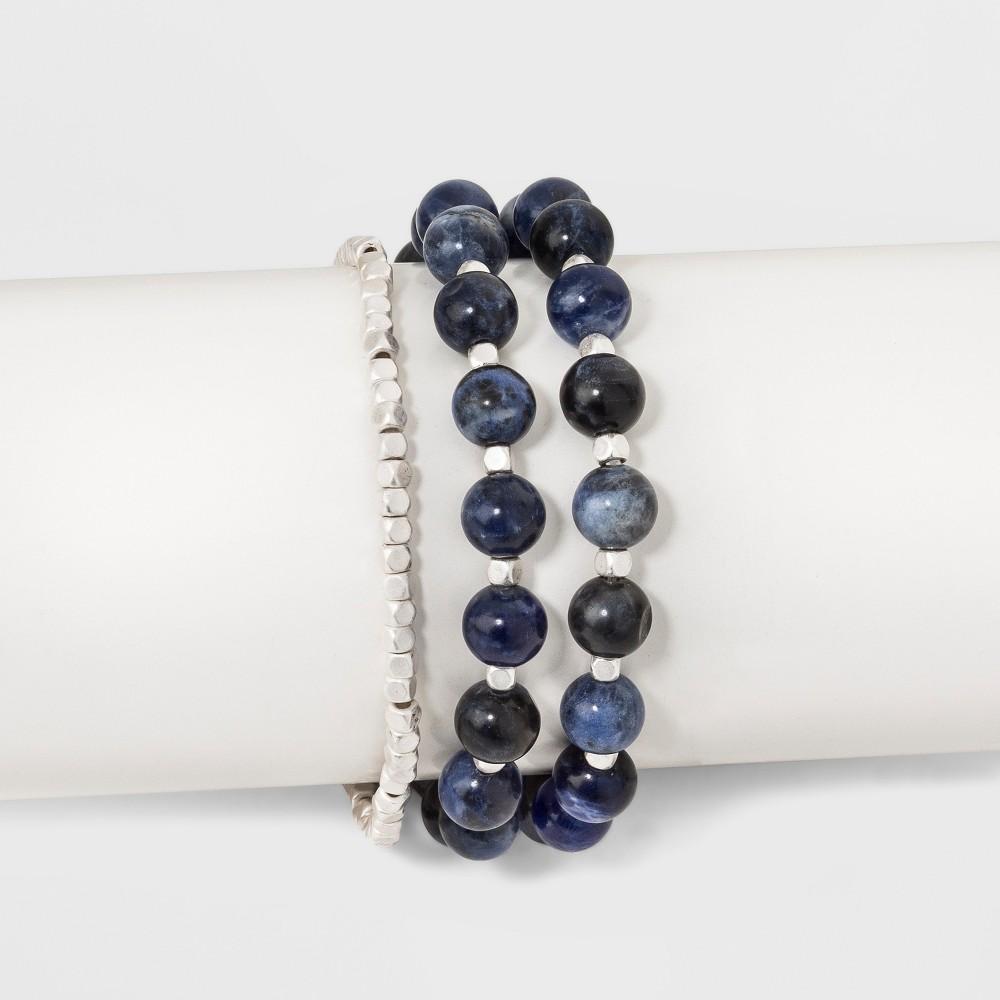 Semi-Precious Trio Bracelet - Universal Thread Sodalite