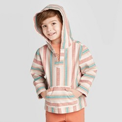 Toddler Boys' Baja Striped Hooded Pullover Jacket - art class™