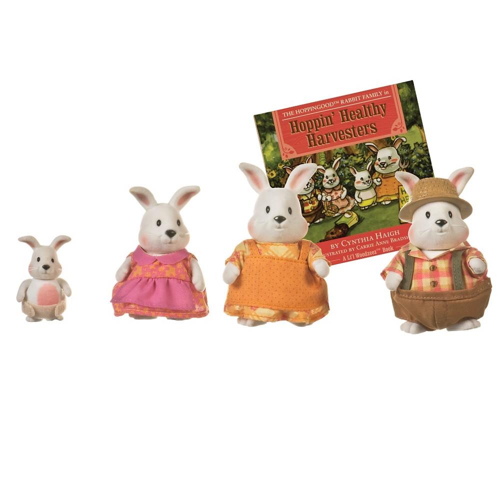 Li 39 L Woodzeez Miniature Animal Figurine Set Hoppingood Rabbit Family