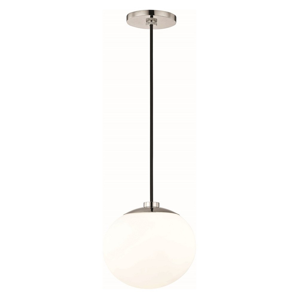 1pc Estee Light Pendant Brushed Nickel - Mitzi by Hudson Valley