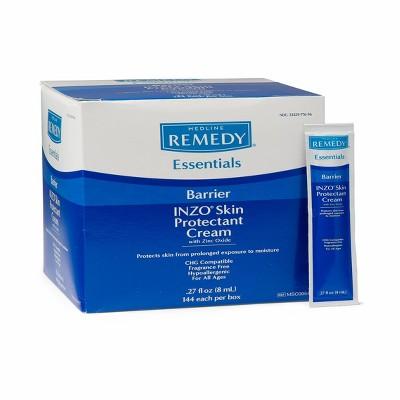 Medline Zinc Oxide Barrier Cream 8 ml Packs - 144ct