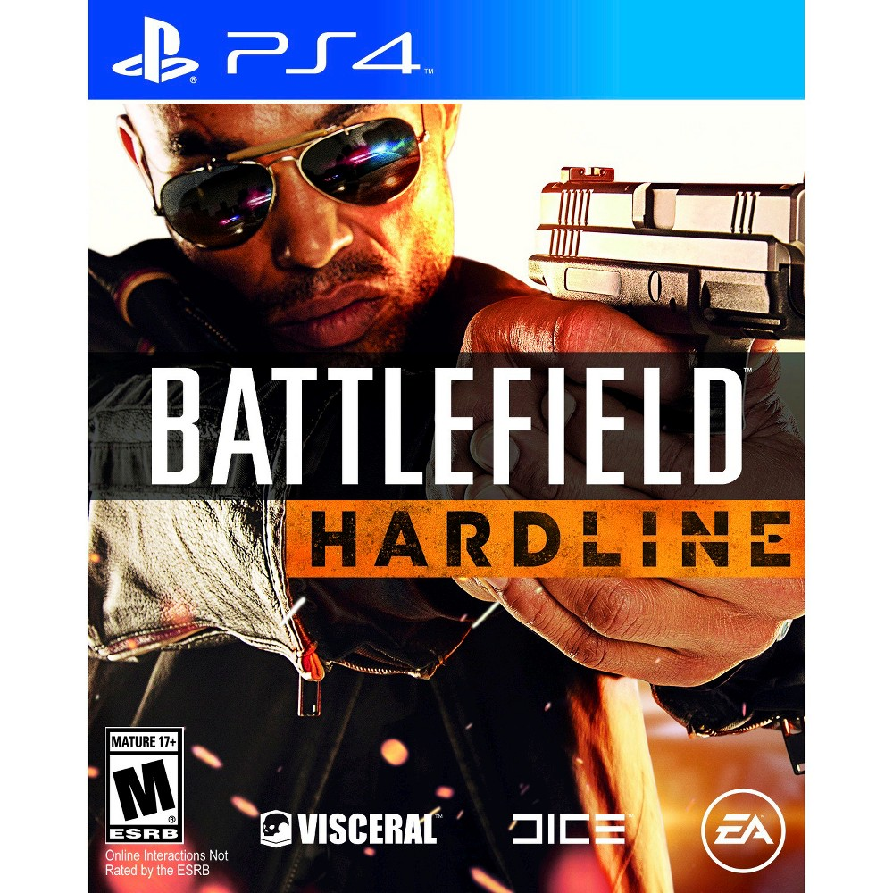 Battlefield: Hardline Pre-Owned PlayStation 4 Cops and criminals meet in the epic game of Battlefield: Hardline (PlayStation 4) Pre-Owned - Ubi Soft. The game works for PlayStation 4 consoles. The pre-owned video game is in like-new condition and is recommended for ages 17 and older.
