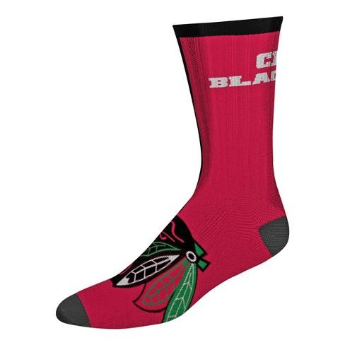 NHL Chicago Blackhawks Sport Big Crew Socks - L - image 1 of 1
