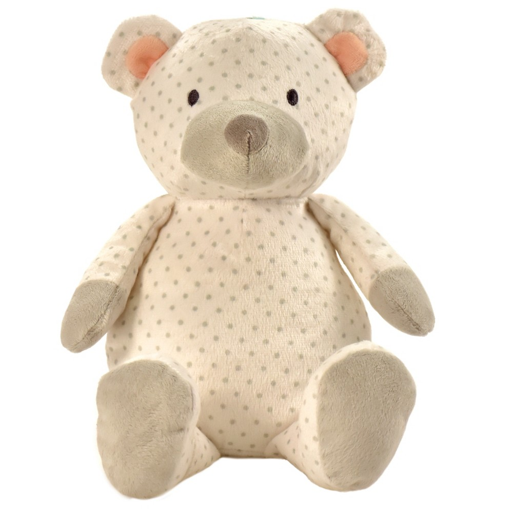 Manhattan Toy Pattern Plush - Bear (White with Gray Dots)