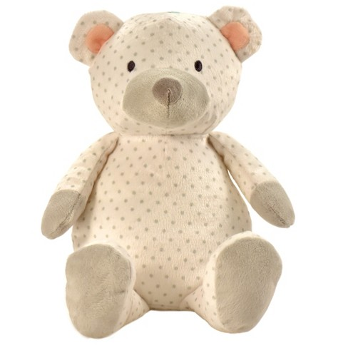 Manhattan Toy Pattern Plush - Bear (White with Gray Dots) - image 1 of 3