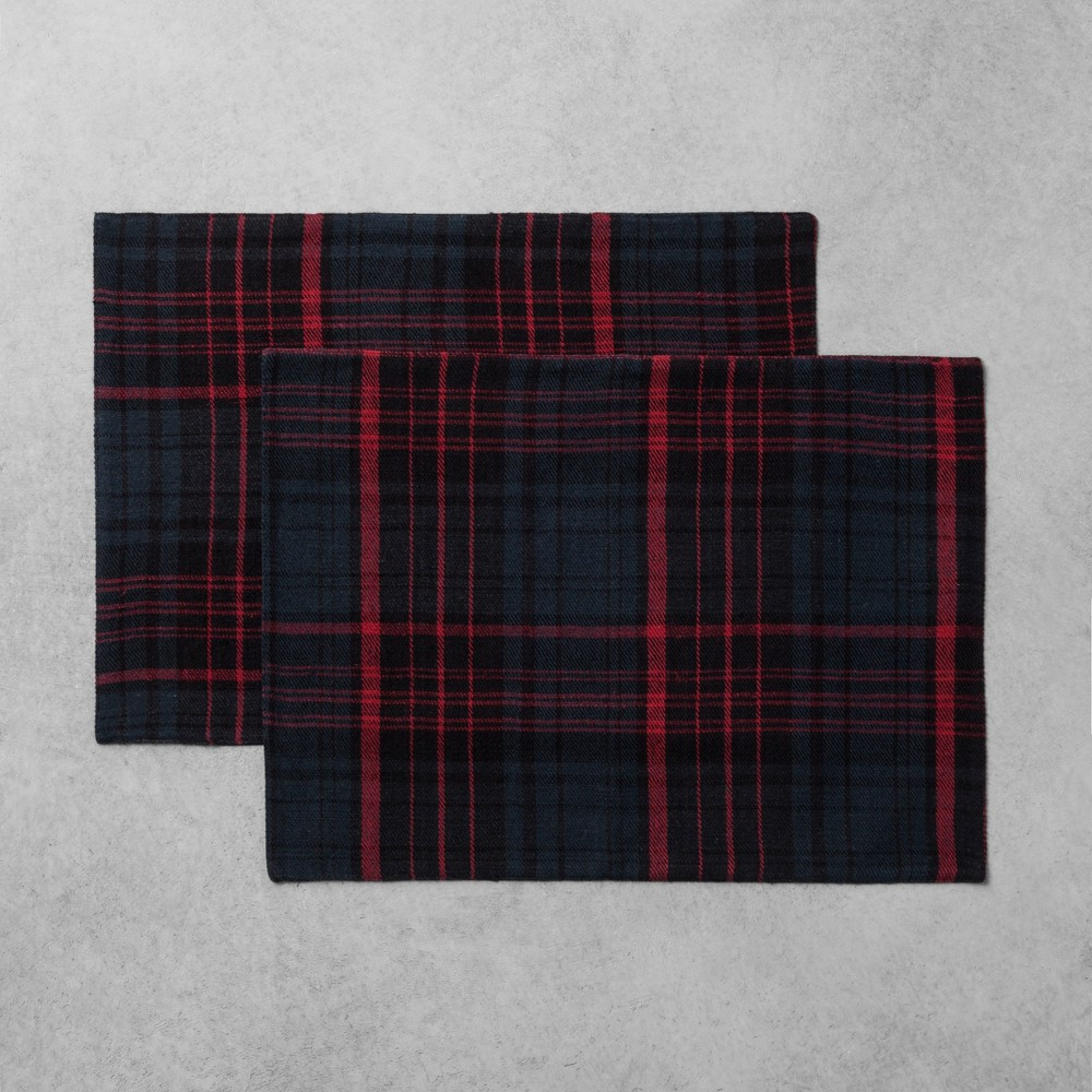 Placemat Set of 2 Plaid Red/Blue - Hearth & Hand with Magnolia