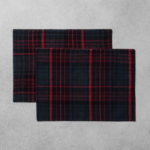 2pk Placemat Plaid Red/Blue - Hearth & Hand™ with Magnolia - image 1 of 2
