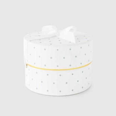 Mint Green and White Swiss Dot Small Round Box - Sugar Paper™