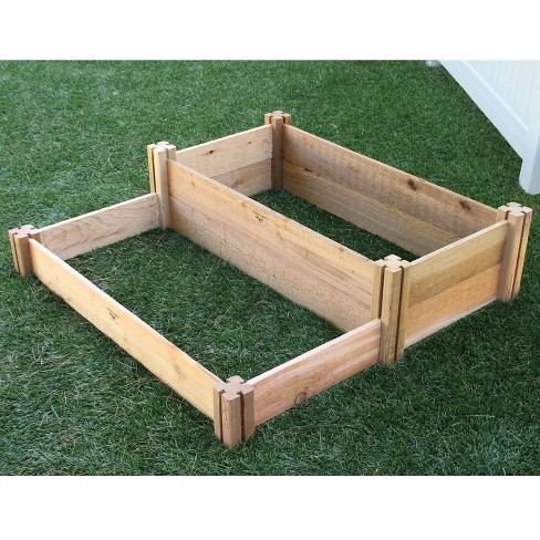 Small Multi-Level Raised Square Garden Bed - Brown - Gronomics - image 1 of 3