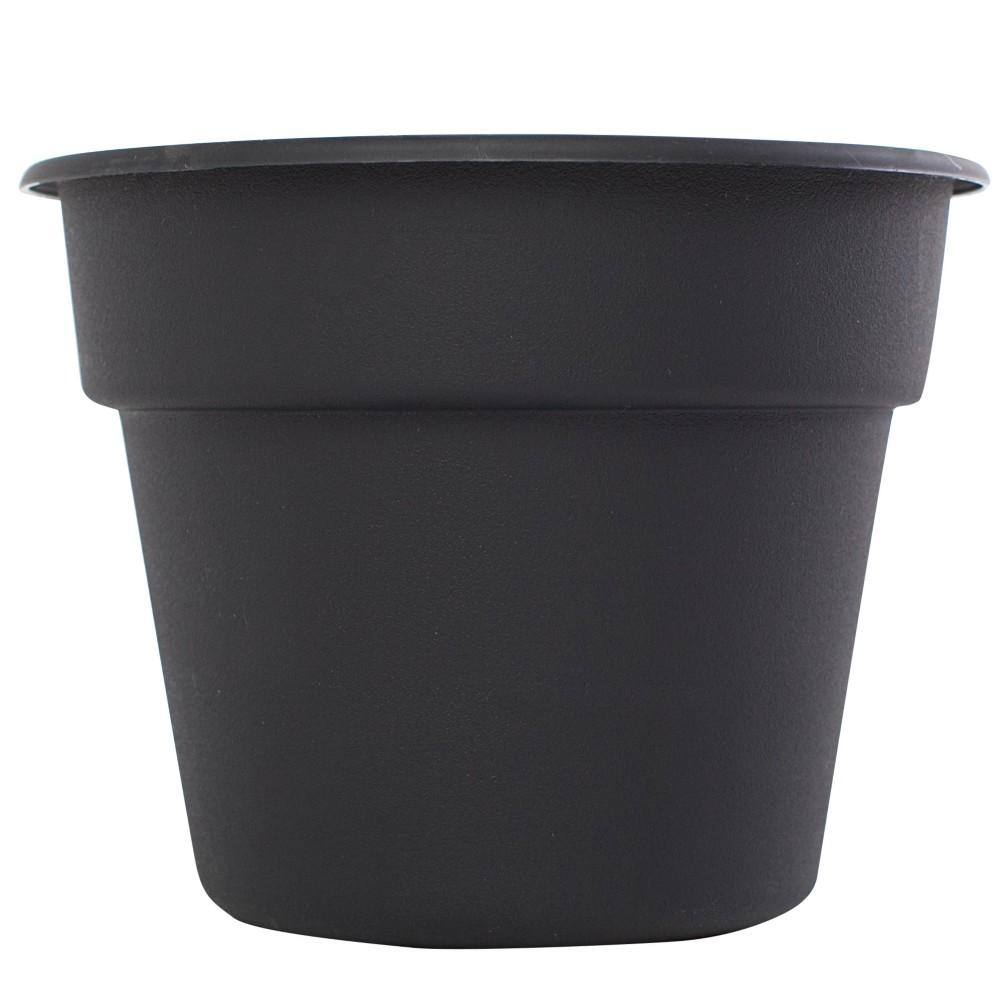"""Image of """"12"""""""" Dura Cotta Planter - Black - Bloem"""""""