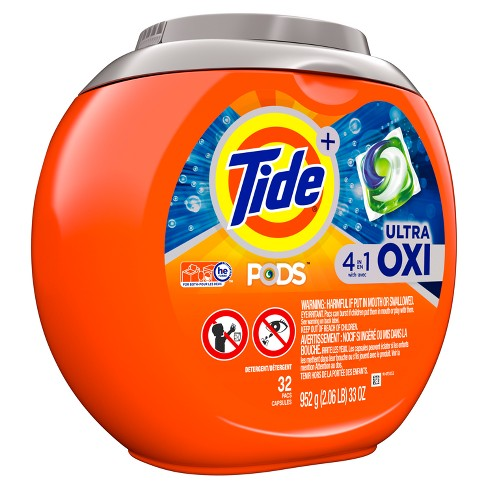 Tide PODS Laundry Detergent Pacs Ultra Oxi - 32ct