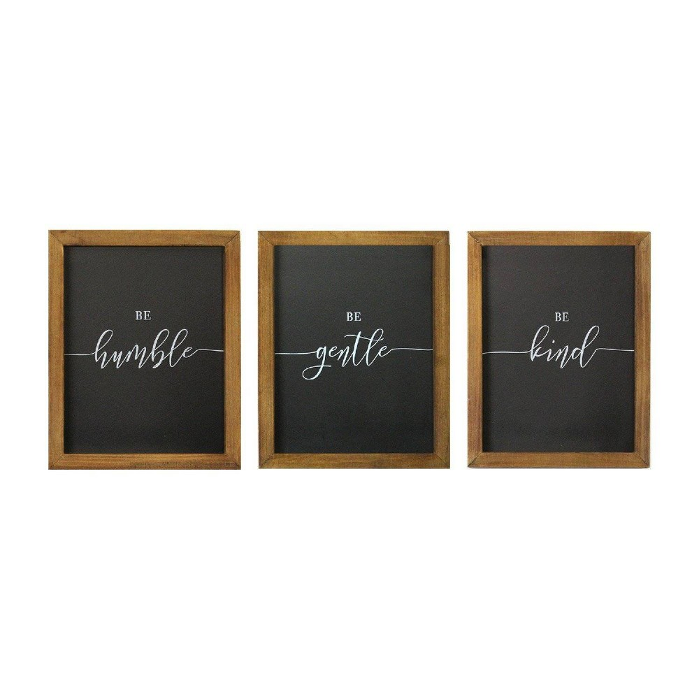 Set Of 3 8 34 X 10 34 34 Be 34 Wall Art Black Brown Stratton Home D 233 Cor