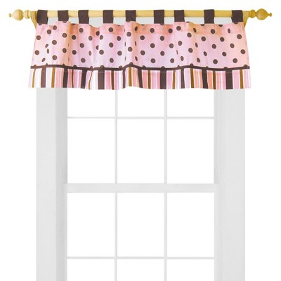 Trend Lab Pink/Brown Maya Window Valance