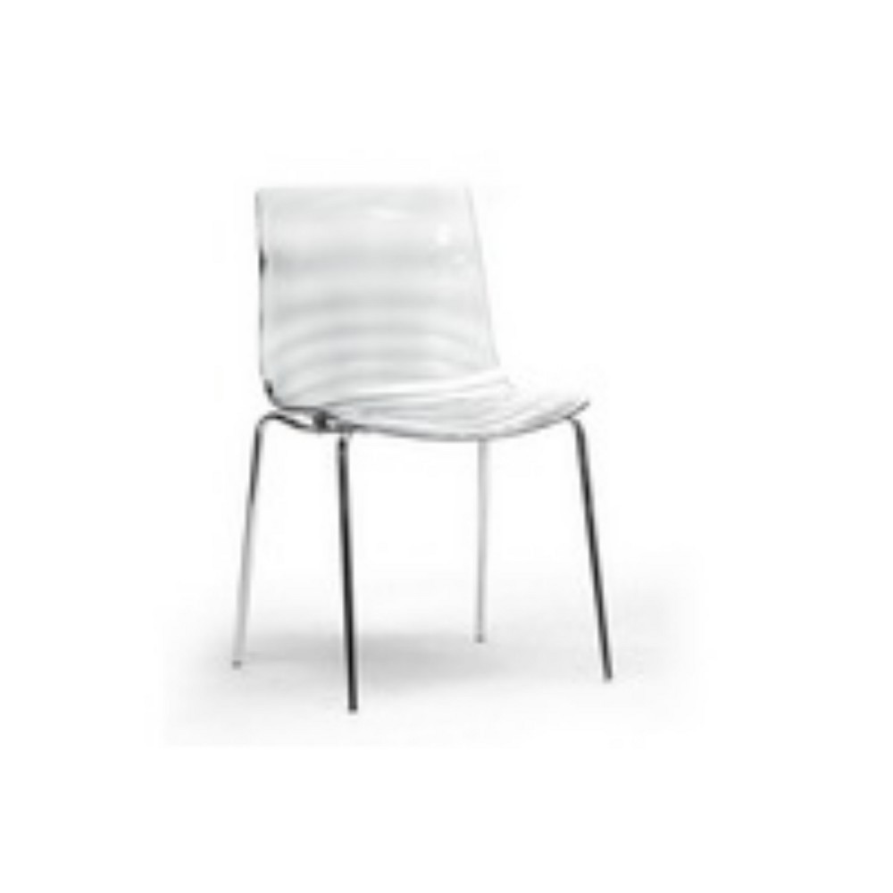 Set of 2 Marisse Plastic Modern Dining Chairs Clear - Baxton Studio