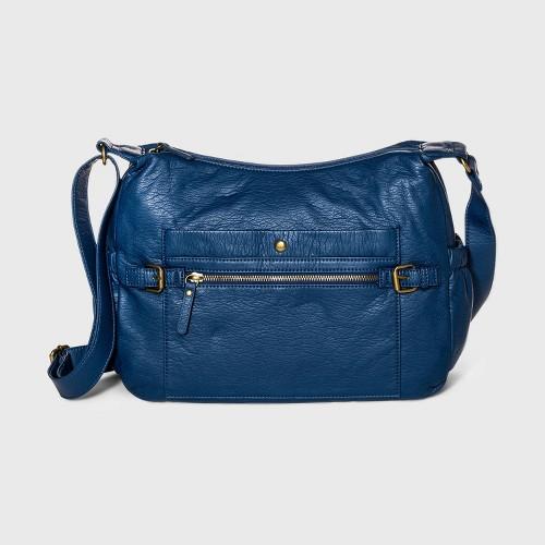 Bueno Zip Closure Crossbody Bag Blue