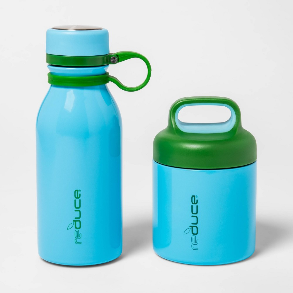 Image of Reduce 14oz 2pk Stainless Steel Water Bottle Set Teal