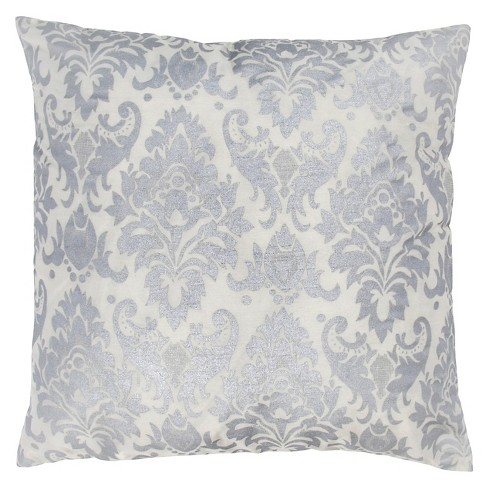 Silverwhite Medallion Throw Pillow 18x18 Rizzy Home Target