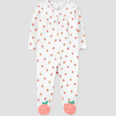 Baby Girls' Clementines Sleep N' Play - Just One You® made by carter's White