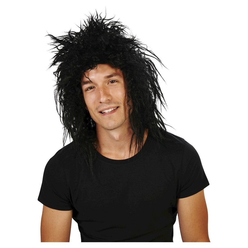 80s Jett Rocker Men's Costume Wig Black