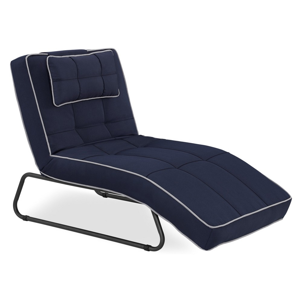 Relax-A-Lounger Bari Outdoor Convertible Chaise Navy (Blue) - Lifestyle Solutions